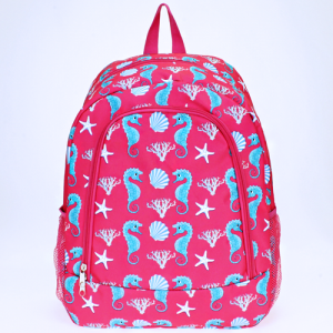 ak backpack NBN 32 sea horse fuchsia turquoise