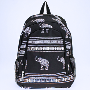 ak backpack NBN ELE BW boho elephant black white