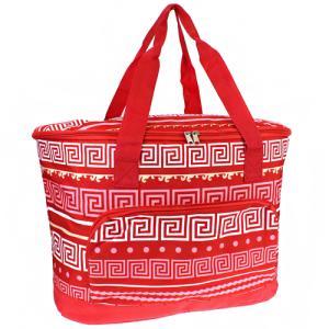 ak cc30 16 p large cooler bag greek key red coral