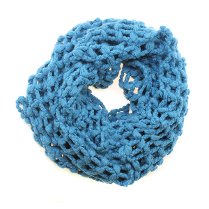 Scarf  150d 11 Weave Knit Net Infinity Scarf teal