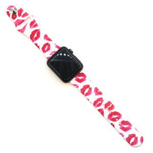 Watch Band 053 08 silicone rubber 38mm 40mm lipstick kiss