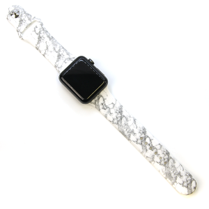 Watch Band 170 08 42mm 44mm Watch Band white marble