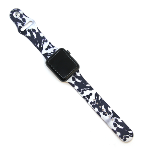 Watch Band 113 08 Rubber Silicone watch band 38mm 40mm black white dye