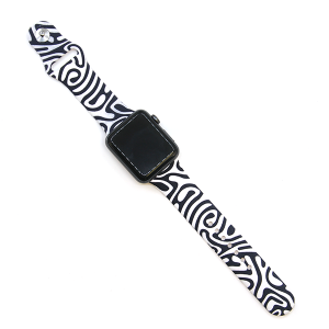 Watch Band 024b 08 Rubber Silicone watch band 38mm 40mm zebra