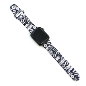 Watch Band 098 08 Rubber Silicone watch band 38mm 40mm aztec