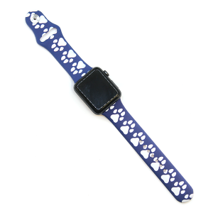Watch Band 107 08 Rubber Silicone watch band 38mm 40mm dog paw blue