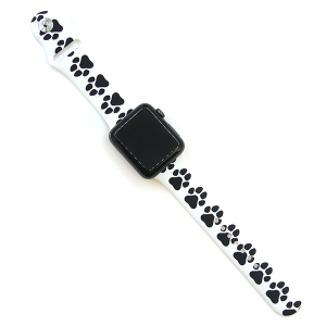 Watch Band 104 08 Rubber Silicone watch band 38mm 40mm dog paw white