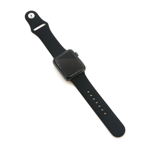Watch Band 045 08 silicone rubber 38mm 40mm black