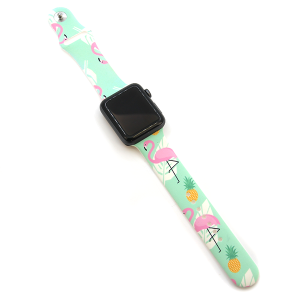 Watch Band 069 08 silicone rubber 38mm 40mm flamingo