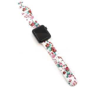 Watch Band 036 08 silicone rubber 38mm 40mm floral rose 2