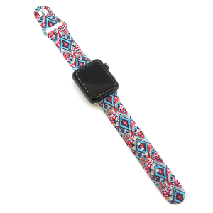 Watch Band 039 08 silicone rubber 38mm 40mm paisley diamond
