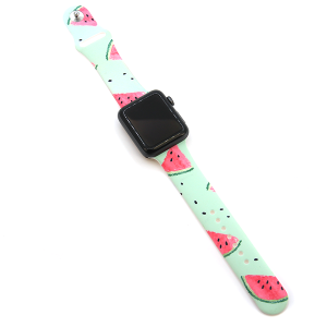 Watch Band 016a 08 silicone rubber 38mm 40mm watermelon