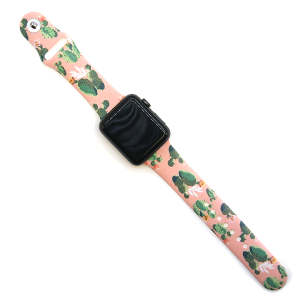 Watch Band 146a 08 silicone rubber 38mm 40mm cactus coral