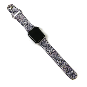 Watch Band 198 silicone rubber 38mm 40mm snake gray