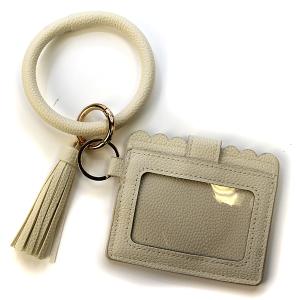 Keychain 031d Card Holder ID wrist keychain beige