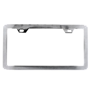 bd lp 131 license plate frame metal silver