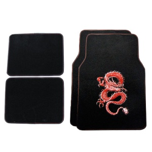 bd mt 518 dragon carpet car floor mats red