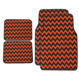 bd mt 959 chevron car mats red black