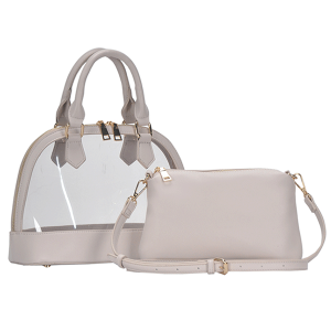 MMS BGS 5799 2in1 transparent dome satchel bone