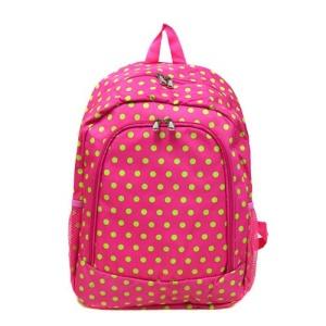 bp 5016 504 yh backpack polka dots fuchsia green