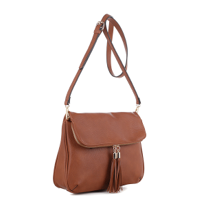 Deluxity C519918A crossbody conceal carry tassel brown
