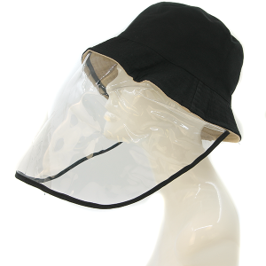 Plastic Face Shield Bucket Hat Cap