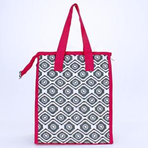 cc 18 18 lunch bag geometric aztec gray white fuchsia