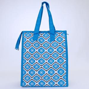 cc 18 18 lunch bag geometric aztec light blue gray white