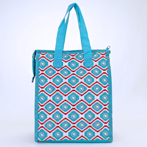 cc 18 18 lunch bag geometric aztec turquoise red white