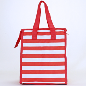 cc 18 23 lunch bag nautical stripe coral white