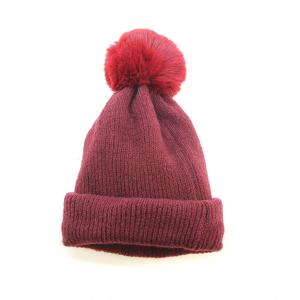 Winter Cap 004b 08 Fadivo pom pom beanie scarf combo burgundy