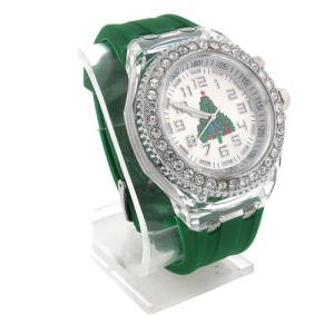 christmas watch 050b 08 lg rubber tree silver green