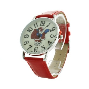 christmas watch 178a 08 tree red silver