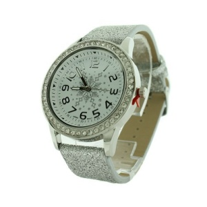 christmas watch 182a 08 snowflake glitter crystal silver