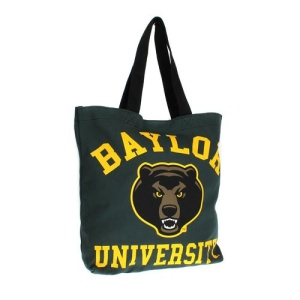 cm lbu 032 Baylor University tote bag green