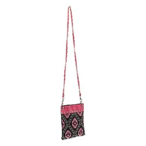 cs 2030 sw diamond aztec messenger bag black fuchsia