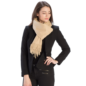 Scarf 519 08 Fadivo solid infinity scarf taupe