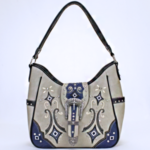 cs GP 979 W 101 western handbag buckle gray blue