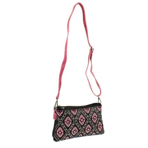 cs g 2069 sw diamond aztec messenger bag black fuchsia