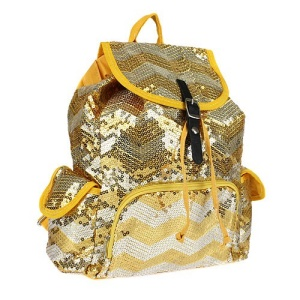 cs lus q 45 sv chevron sequin backpack yellow