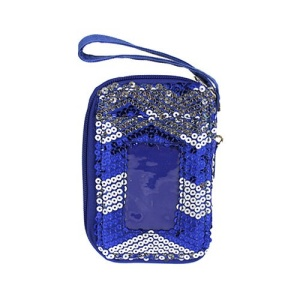 cs lusq 49 sv chevron sequin wallet silver royal blue