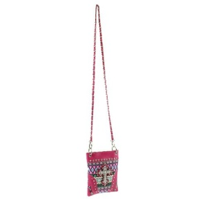 cs w 2030 w1k lcr aztec cross fabric messenger bag fuchsia