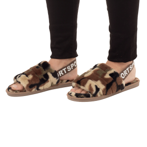 Winter Slipper CSL003 camo print strap green size 8 - 8.5