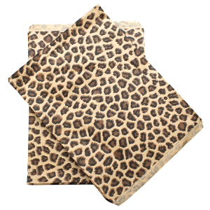display 8.5X11 jewelry paper bag leopard brown