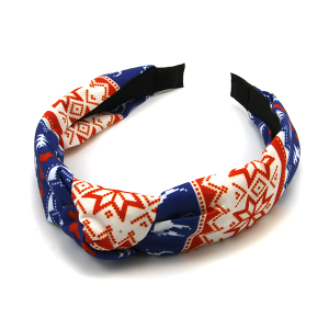 Christmas Headband 214 25 Tell Your Tale red blue pattern