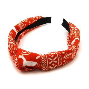 Christmas Headband 215 25 Tell Your Tale red pattern