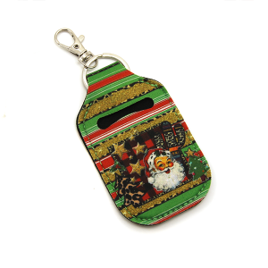 Christmas Hand Sanitizer Keychain Pouch 083 santa