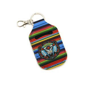 Hand Sanitizer Keychain Pouch 088 serape longhorn concho