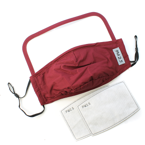 Face Mask 380 Shield Mask with 2 filters burgundy