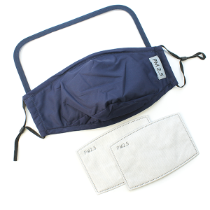 Face Mask 379 Shield Mask with 2 filters navy